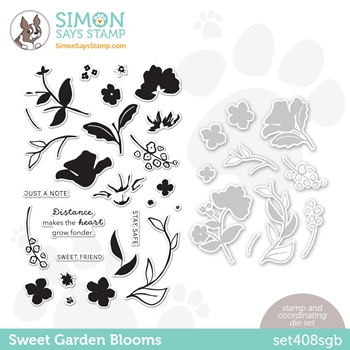Simon Says Stamps and Dies SWEET GARDEN BLOOMS set408sgb All The Feels