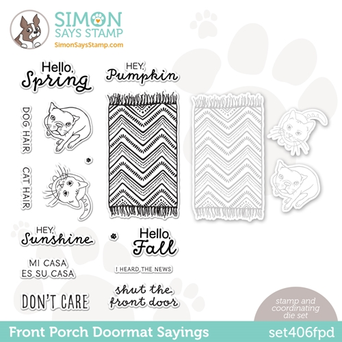 Simon Says Stamps and Dies FRONT PORCH DOORMAT SAYINGS set406fpd All The Feels Preview Image
