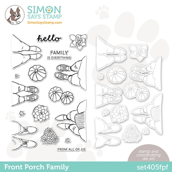 Simon Says Stamps and Dies FRONT PORCH FAMILY set405fpf All The Feels