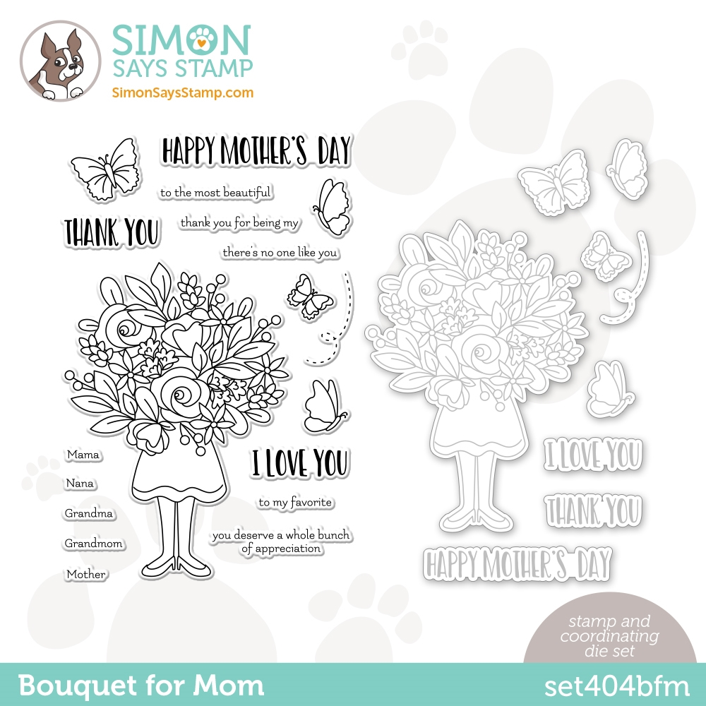 Simon Says Stamps and Dies BOUQUET FOR MOM set404bfm All The Feels zoom image