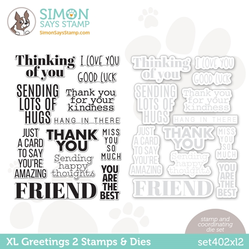 Simon Says Stamps and Dies XL GREETINGS 2 set402xl2 All The Feels Preview Image