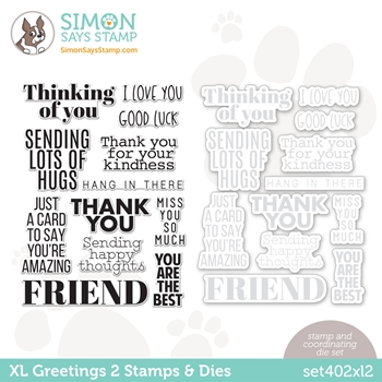 Simon Says Stamps and Dies XL GREETINGS 2 set402xl2 All The Feels