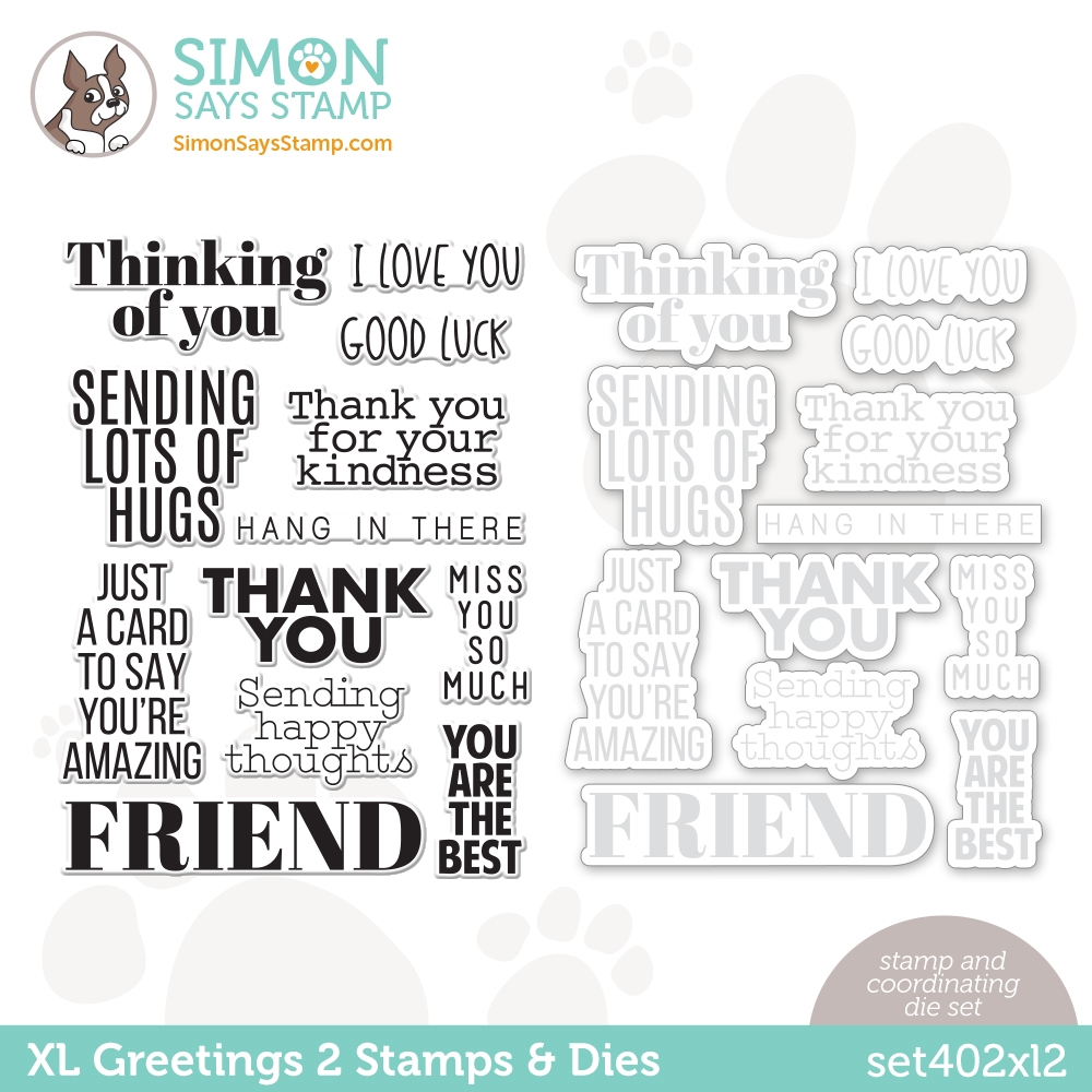 Simon Says Stamps and Dies XL GREETINGS 2 set402xl2 All The Feels zoom image