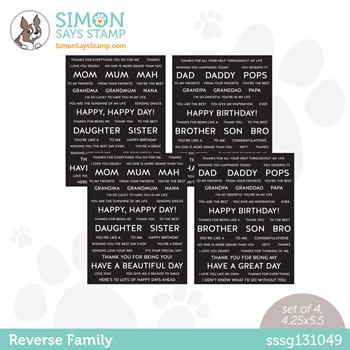 Simon Says Stamp Sentiment Strips REVERSE FAMILY sssg131049 All The Feels