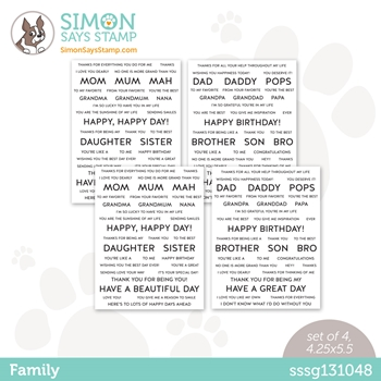 Simon Says Stamp Sentiment Strips FAMILY sssg131048 All The Feels