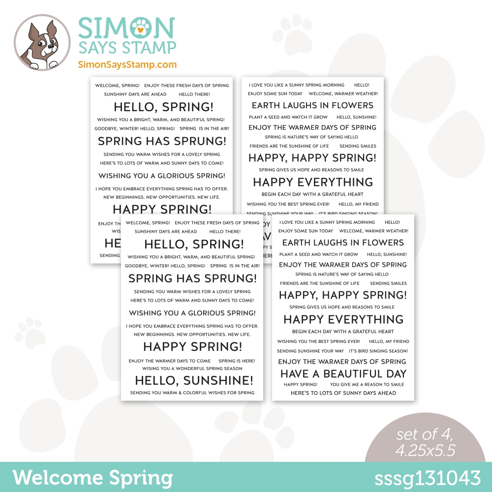 Simon Says Stamp Sentiment Strips WELCOME SPRING sssg131043 All The Feels zoom image