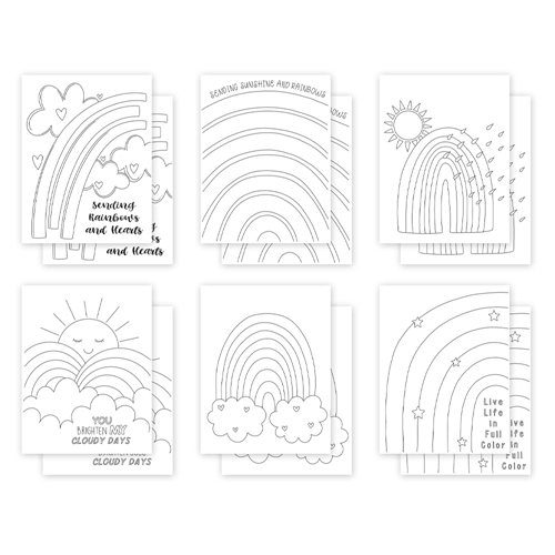 Simon Says Stamp Suzy's SUNSHINE AND RAINBOWS Watercolor Prints szwc0321sr All The Feels Preview Image