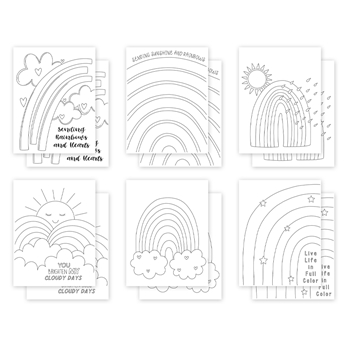Simon Says Stamp Suzy's SUNSHINE AND RAINBOWS Watercolor Prints szwc0321sr All The Feels