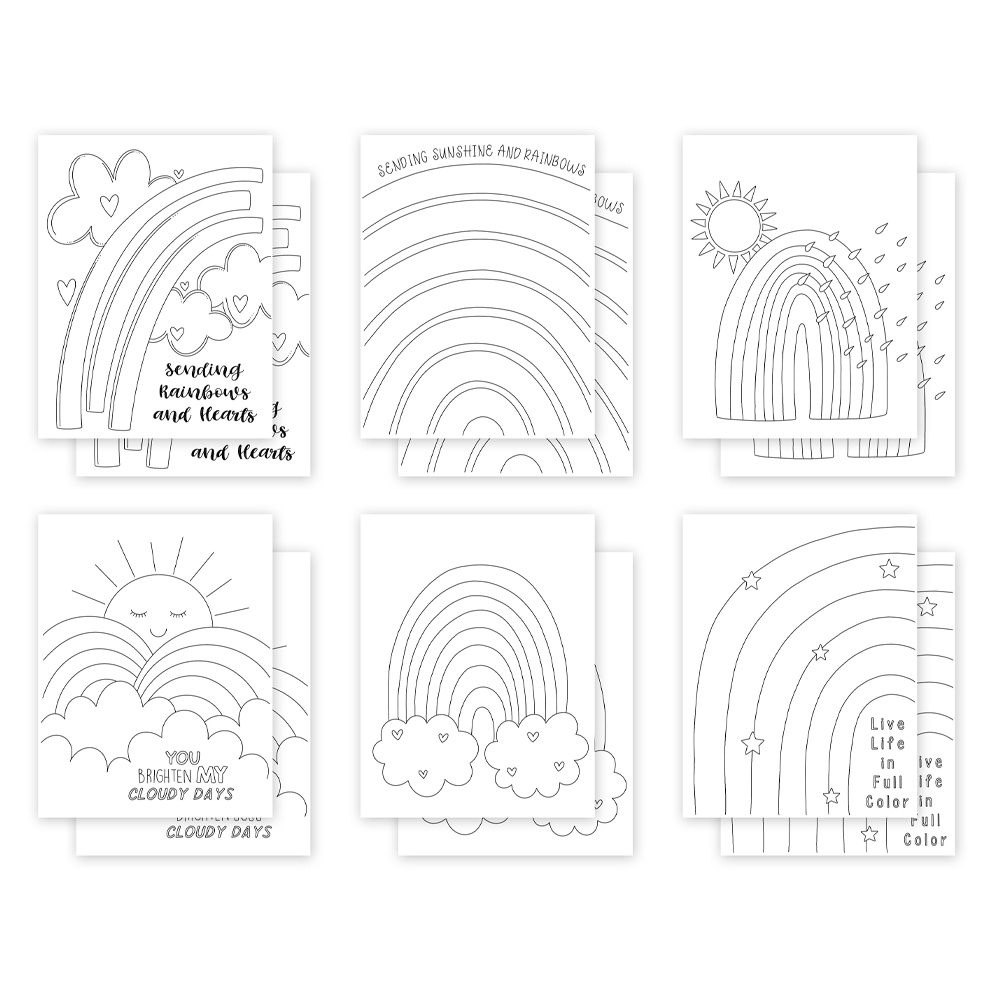 Simon Says Stamp Suzy's SUNSHINE AND RAINBOWS Watercolor Prints szwc0321sr All The Feels zoom image