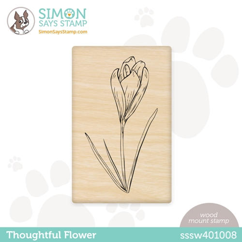 Simon Says Wood Stamp THOUGHTFUL FLOWER sssw401008 All The Feels Preview Image
