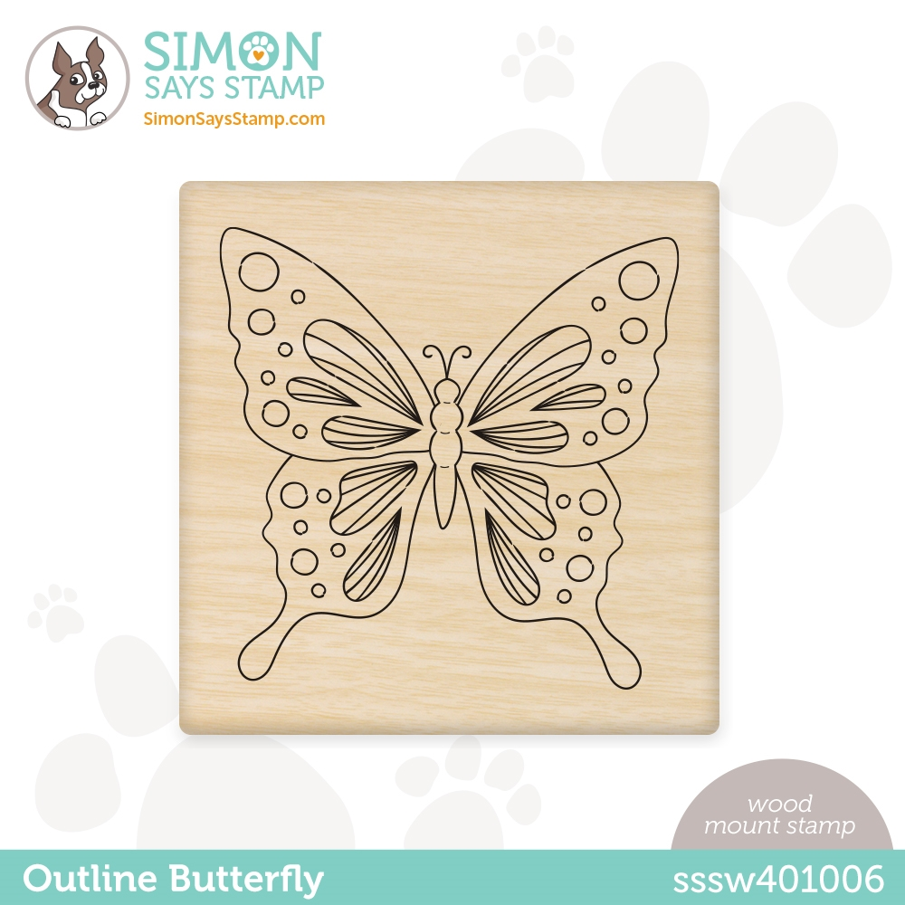 Simon Says Wood Stamp OUTLINE BUTTERFLY sssw401006 All The Feels zoom image