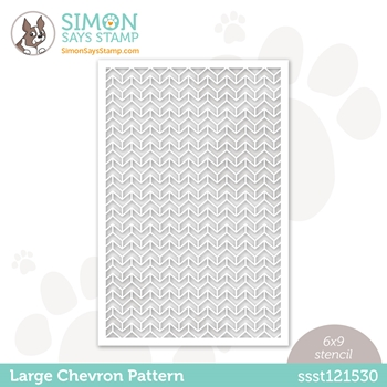Simon Says Stamp Stencil LARGE CHEVRON PATTERN ssst121530 All The Feels **