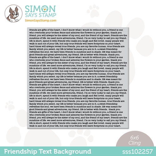 Simon Says Cling Stamp FRIENDSHIP TEXT BACKGROUND sss102257 All The Feels Preview Image
