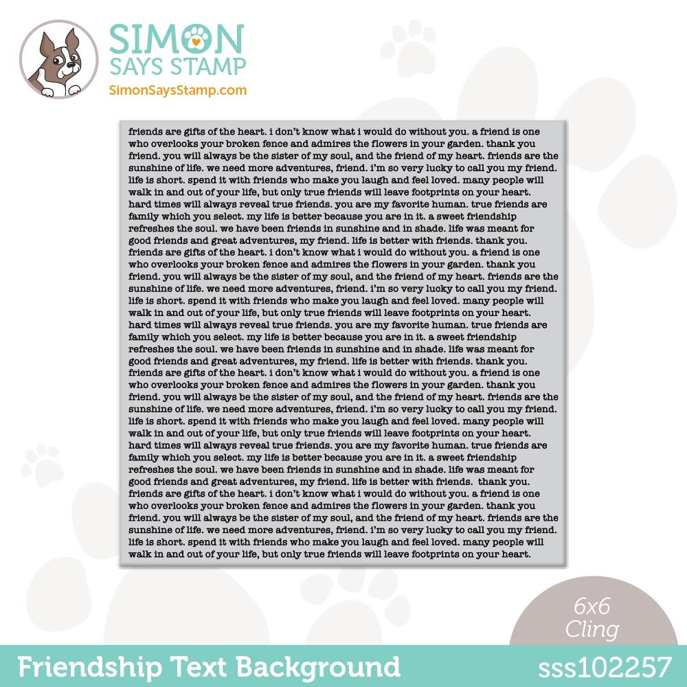 Simon Says Cling Stamp FRIENDSHIP TEXT BACKGROUND sss102257 All The Feels zoom image