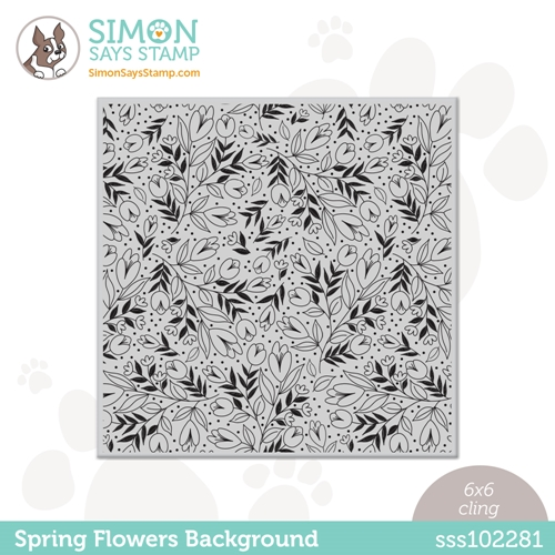 Simon Says Cling Stamp SPRING FLOWERS BACKGROUND sss102281 All The Feels Preview Image