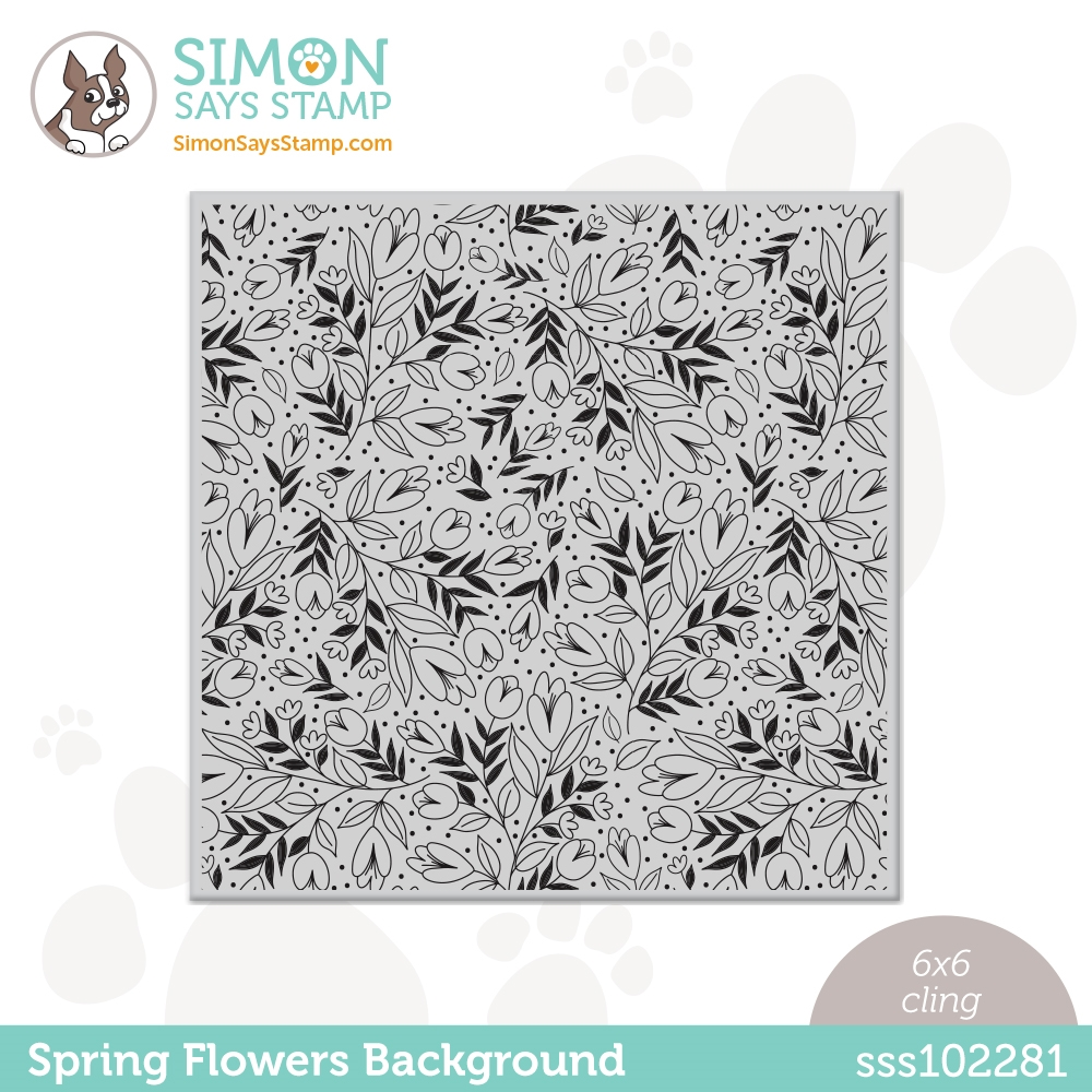 Simon Says Cling Stamp SPRING FLOWERS BACKGROUND sss102281 All The Feels zoom image