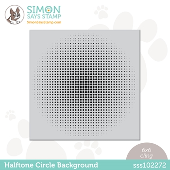 Simon Says Cling Stamp HALFTONE CIRCLE BACKGROUND sss102272 All The Feels