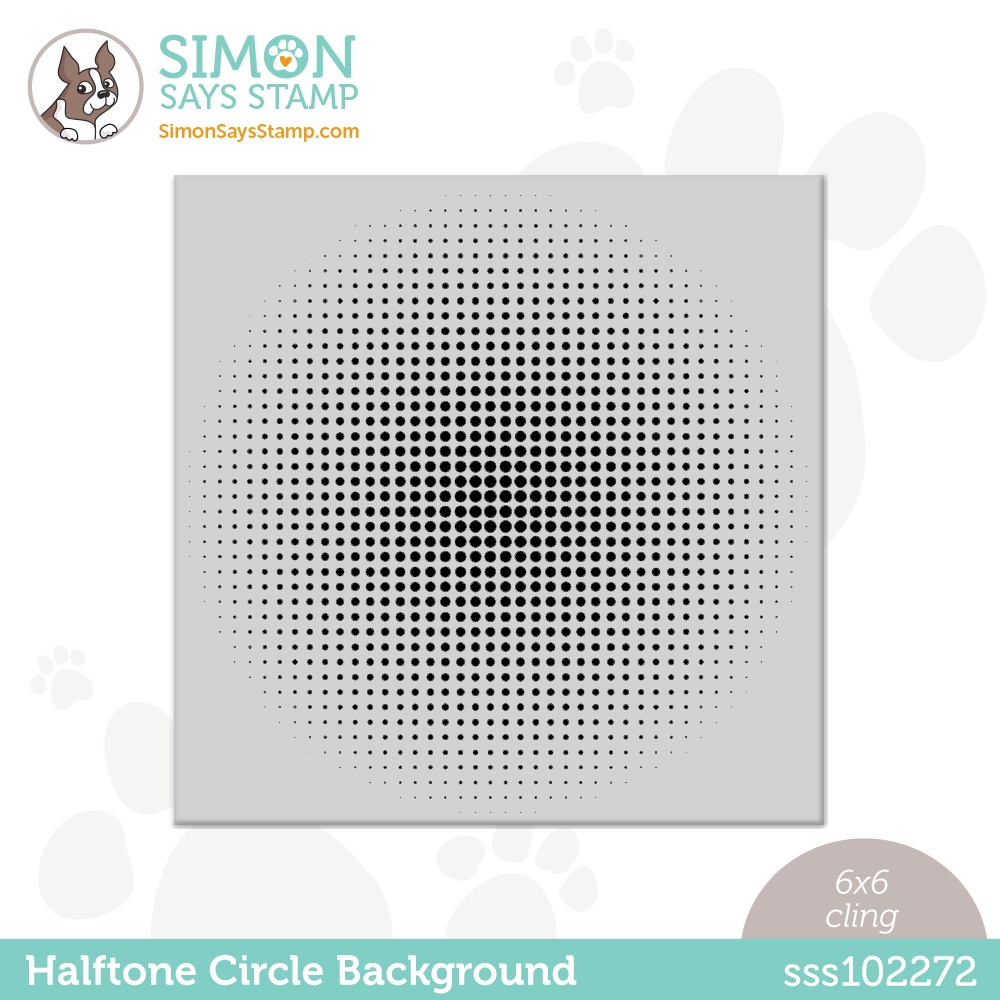 Simon Says Cling Stamp HALFTONE CIRCLE BACKGROUND sss102272 All The Feels zoom image