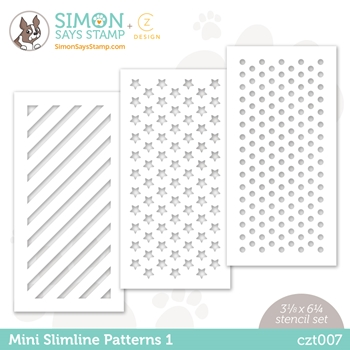 CZ Design Stencils MINI SLIMLINE PATTERNS czt007 All The Feels