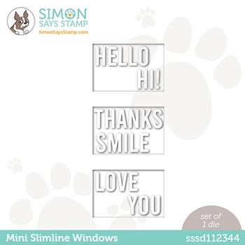 Simon Says Stamp MINI SLIMLINE WINDOWS Wafer Dies sssd112344 All The Feels