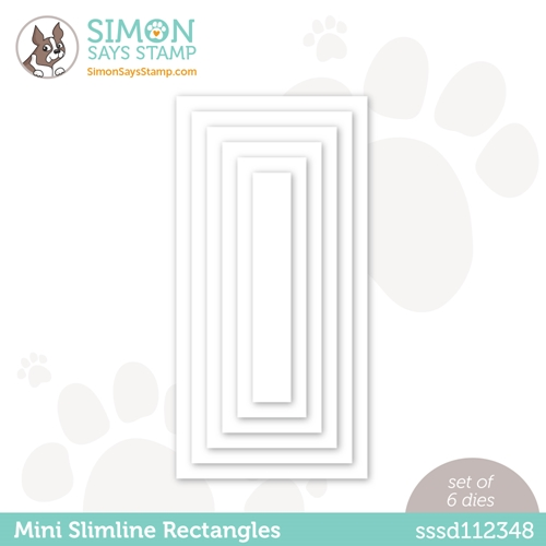 Simon Says Stamp MINI SLIMLINE RECTANGLES Wafer Dies sssd112348 All The Feels Preview Image