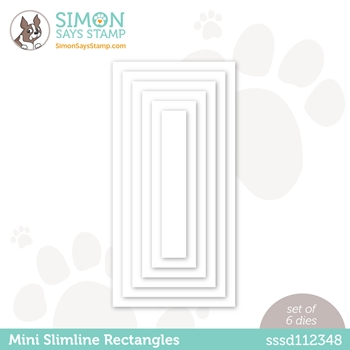 Simon Says Stamp MINI SLIMLINE RECTANGLES Wafer Dies sssd112348 All The Feels