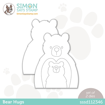 Simon Says Stamp BEAR HUGS Wafer Dies sssd112346 All The Feels