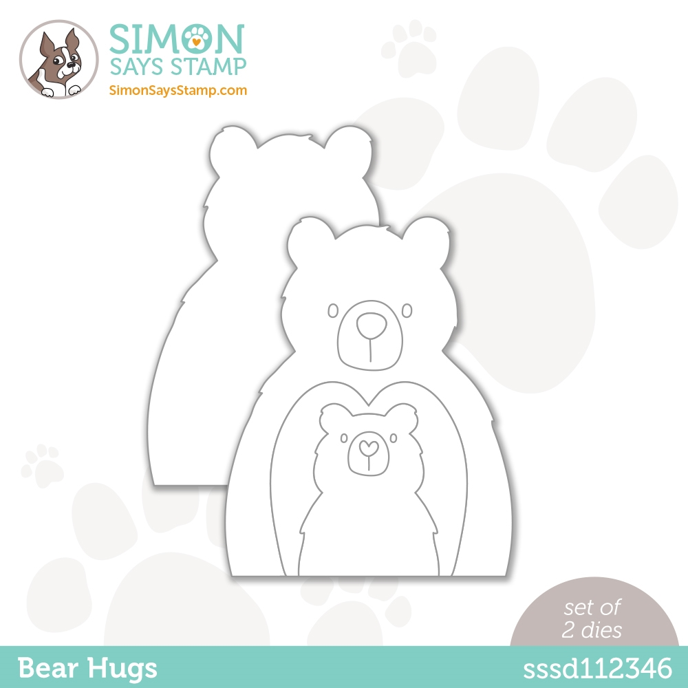 Simon Says Stamp BEAR HUGS Wafer Dies sssd112346 All The Feels zoom image