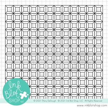 Ink Blot Shop Clear Stamp Set DIMENSIONAL BLOCKS BACKGROUND inbl103