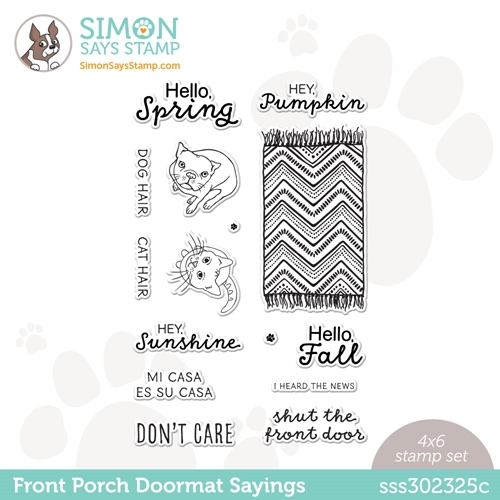 Simon Says Clear Stamps FRONT PORCH DOORMAT SAYINGS sss302325c All The Feels Preview Image