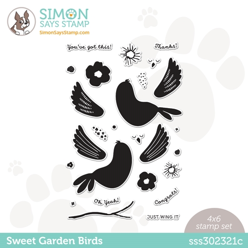 Simon Says Clear Stamps SWEET GARDEN BIRDS sss302321c All The Feels Preview Image
