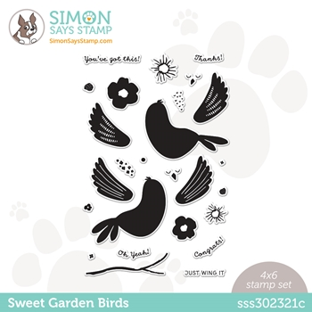 Simon Says Clear Stamps SWEET GARDEN BIRDS sss302321c All The Feels