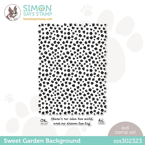 Simon Says Clear Stamps SWEET GARDEN BACKGROUND sss302323 All The Feels Preview Image