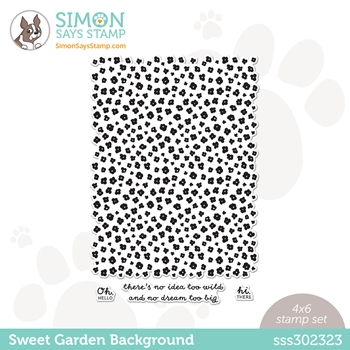 Simon Says Clear Stamps SWEET GARDEN BACKGROUND sss302323 All The Feels