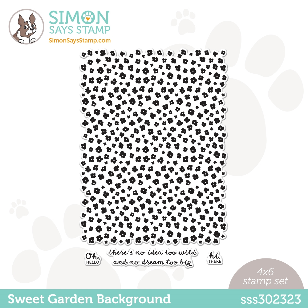 Simon Says Clear Stamps SWEET GARDEN BACKGROUND sss302323 All The Feels zoom image