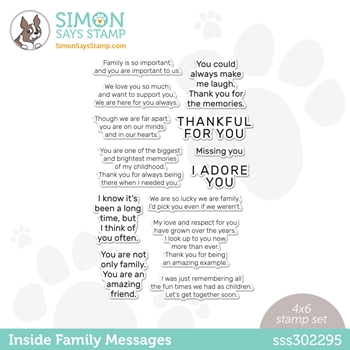 Simon Says Clear Stamps INSIDE FAMILY MESSAGES sss302295 All The Feels