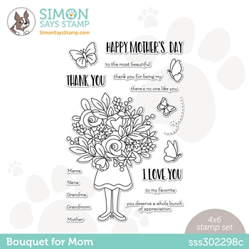 Simon Says Clear Stamps BOUQUET FOR MOM sss302298c All The Feels