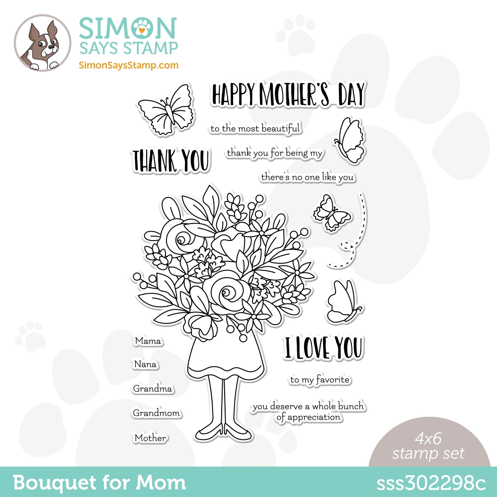 Simon Says Clear Stamps BOUQUET FOR MOM sss302298c All The Feels ** zoom image