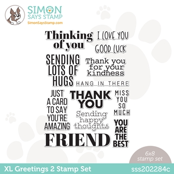 Simon Says Clear Stamps XL GREETINGS 2 sss202284c All The Feels