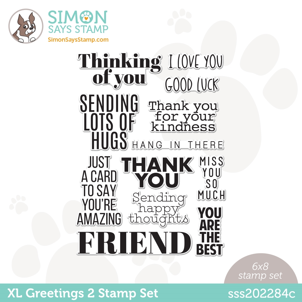 Simon Says Clear Stamps XL GREETINGS 2 sss202284c All The Feels zoom image