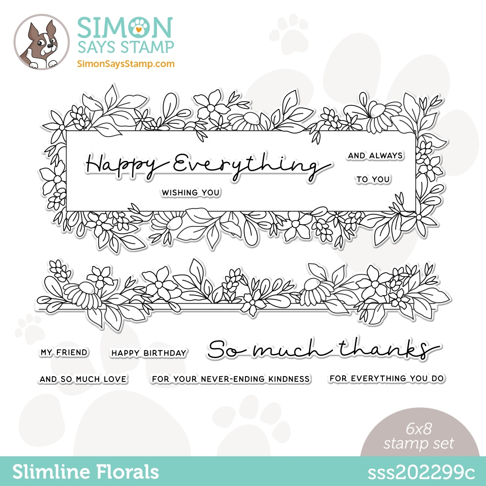 Simon Says Clear Stamps SLIMLINE FLORALS sss202299c All The Feels zoom image