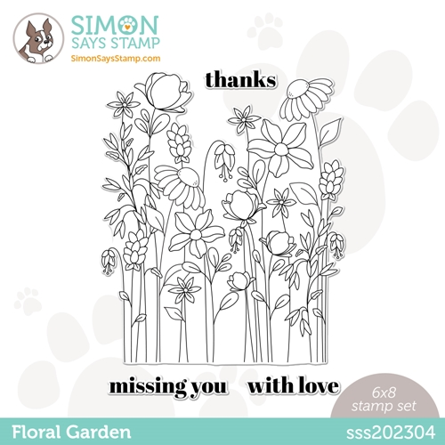 Simon Says Clear Stamps FLORAL GARDEN sss202304 All The Feels Preview Image