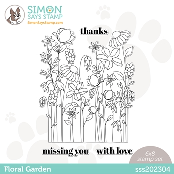 Simon Says Clear Stamps FLORAL GARDEN sss202304 All The Feels