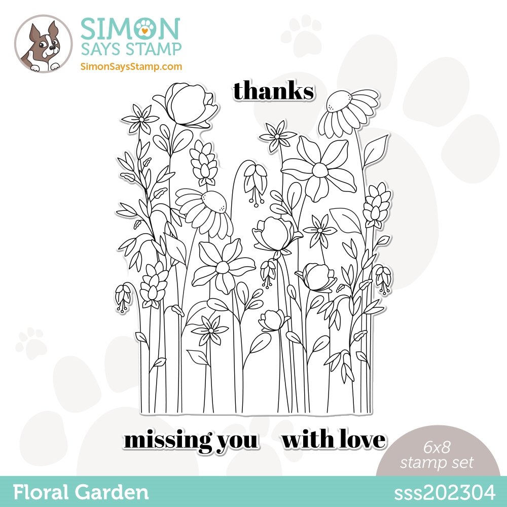 Simon Says Clear Stamps FLORAL GARDEN sss202304 All The Feels zoom image