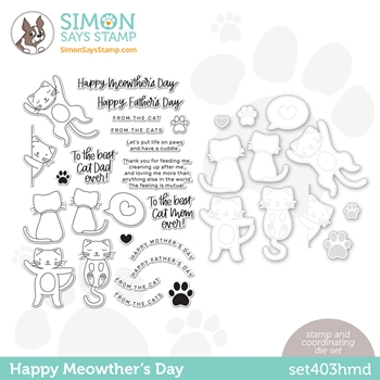 Simon Says Stamps and Dies HAPPY MEOWTHERS DAY set403hmd All The Feels