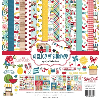 Echo Park A SLICE OF SUMMER 12 x 12 Collection Kit sos241016