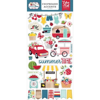 Echo Park A SLICE OF SUMMER Chipboard Accents sos241021