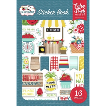 Echo Park A SLICE OF SUMMER Sticker Book sos241029