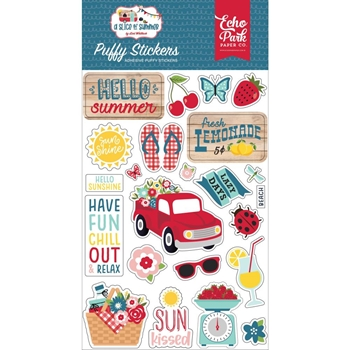 Echo Park A SLICE OF SUMMER Puffy Stickers sos241066