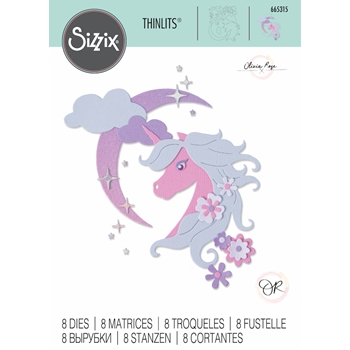 Sizzix MIDNIGHT UNICORN Thinlits Dies 665315